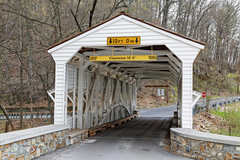 The Knox Covered Bridge in Valley Forge Park. The Knox Covered Bridge in Valley Forge National Historical Park spans Valley Creek in Chester County, Pennsylvania royalty free stock photo