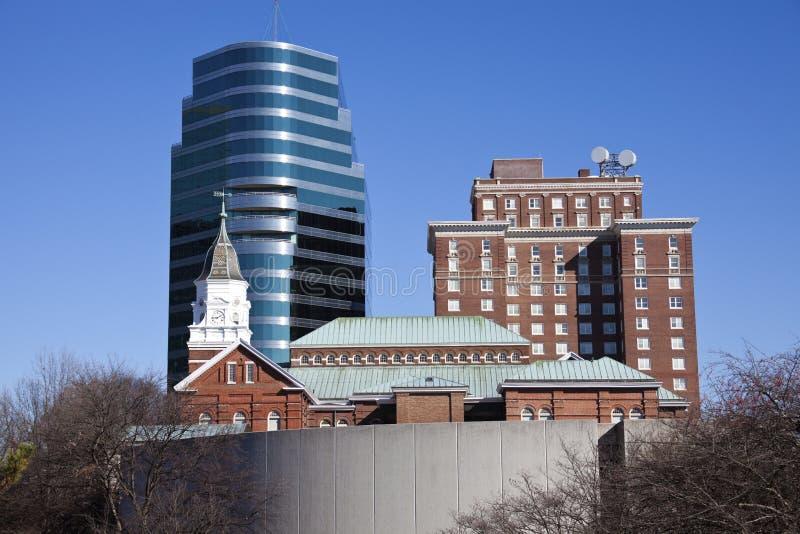 Knoxville - mattina nella città immagini stock libere da diritti