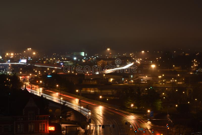 Knoxville Nightscape lizenzfreie stockfotografie