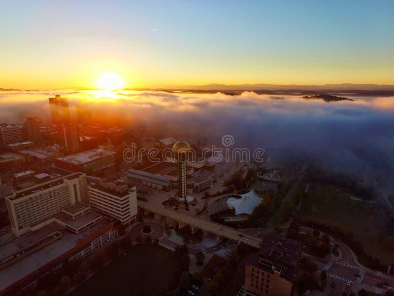 Knoxville Sunrise brumeux photos libres de droits