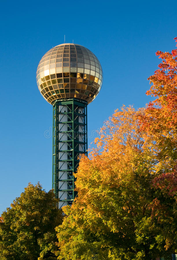 knoxville sunsphere obrazy stock