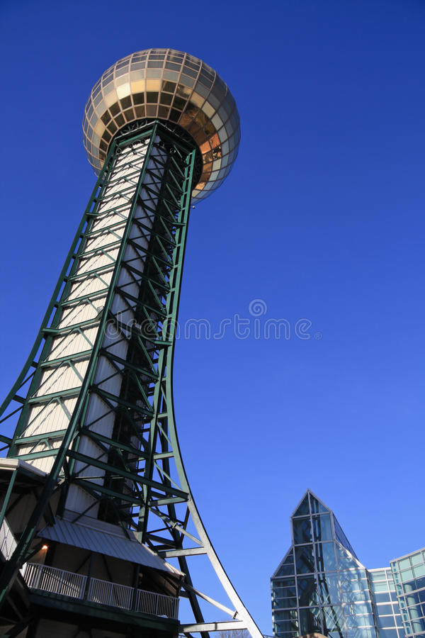 Knoxville Sunsphere photographie stock