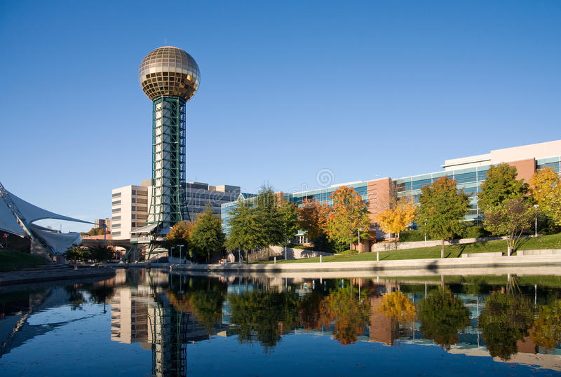 knoxville sunsphere zdjęcia stock