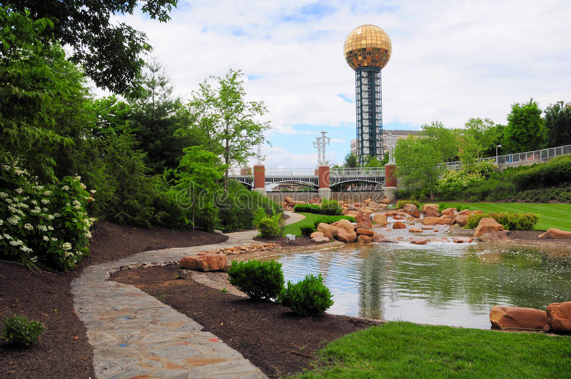Knoxville Sunsphere lizenzfreies stockfoto