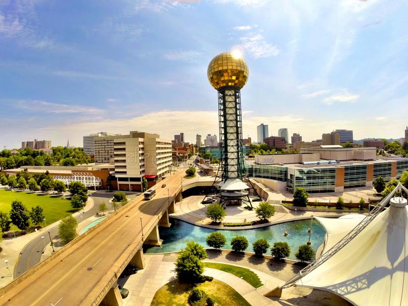 Knoxville Sunsphere stock afbeeldingen