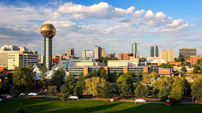 Knoxville, Tennessee City Skyline images libres de droits