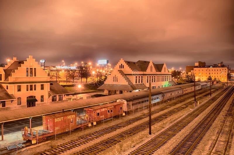 Knoxville Tennessee nachts lizenzfreies stockfoto