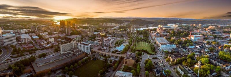 Knoxville, Tennessee wczesny poranek panorama zdjęcie royalty free