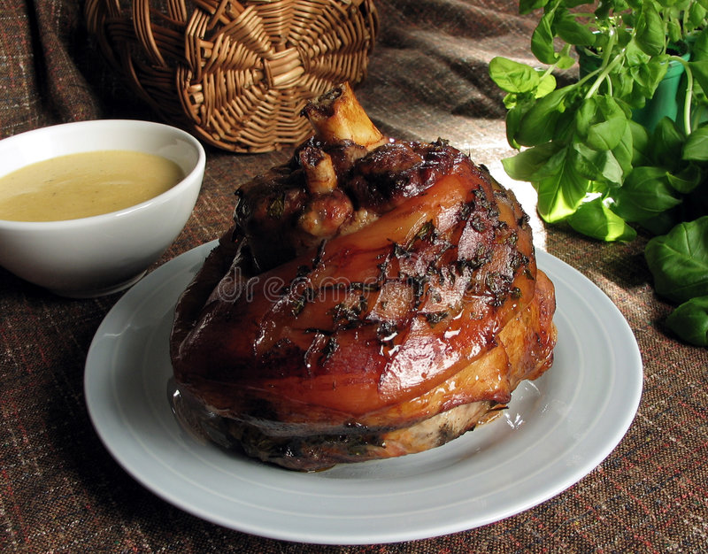 Download Knuckle of pork stock photo. Image of roast, nutrition, sauce - 11936