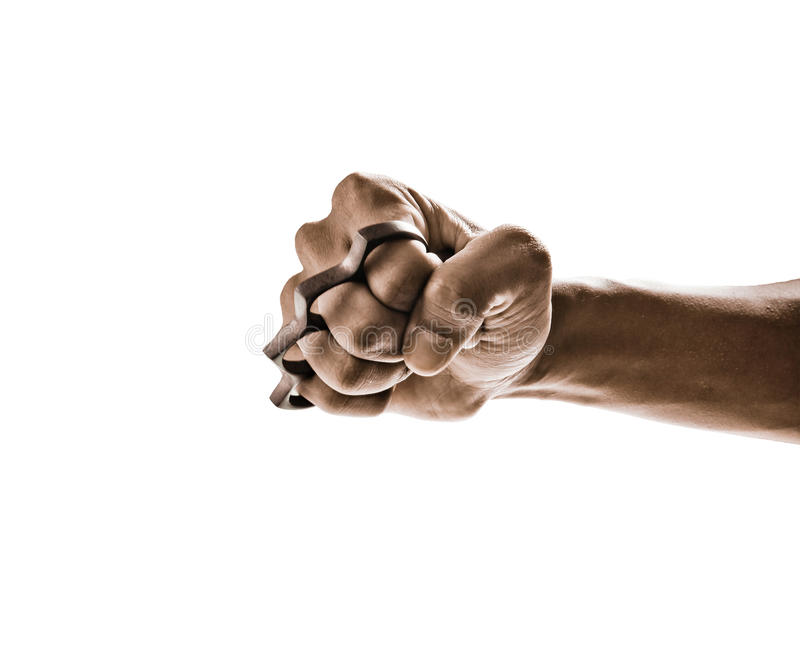 Knuckle weapon. Isolated on white background stock photography