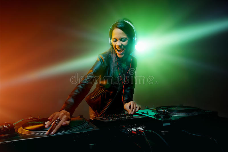 Knuppelende partij DJ royalty-vrije stock foto's
