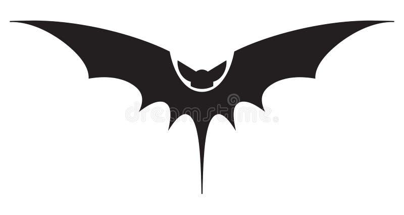 Knuppelpictogram op wit wordt geïsoleerd dat Halloween EPS 10 vectorillustratie stock illustratie