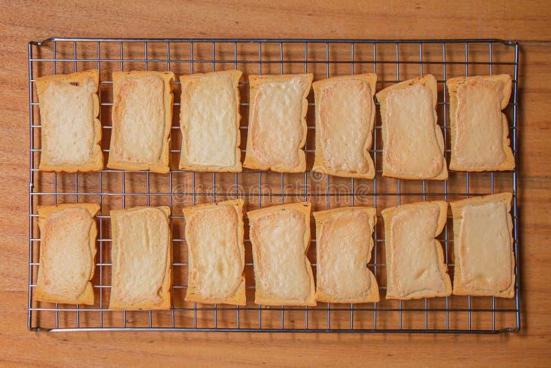 Knusperiger Buttertoast lizenzfreies stockbild