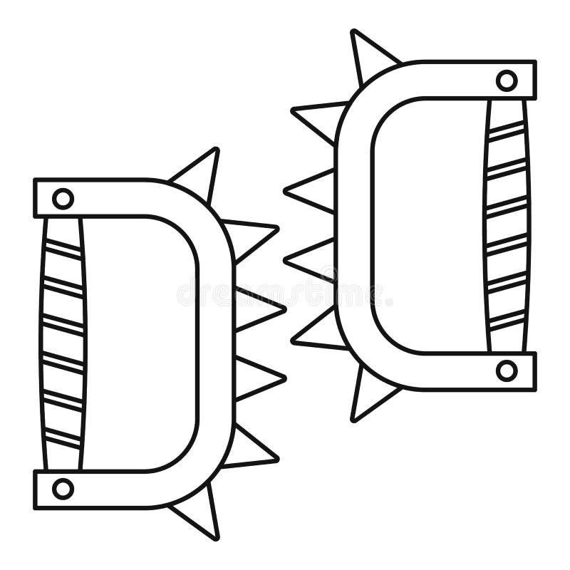 Knykieć ikona, konturu styl ilustracja wektor