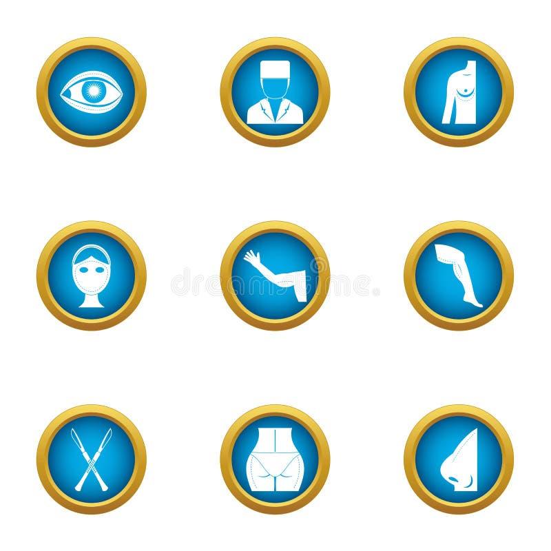 Knykieć ikony ustawiać, mieszkanie styl royalty ilustracja