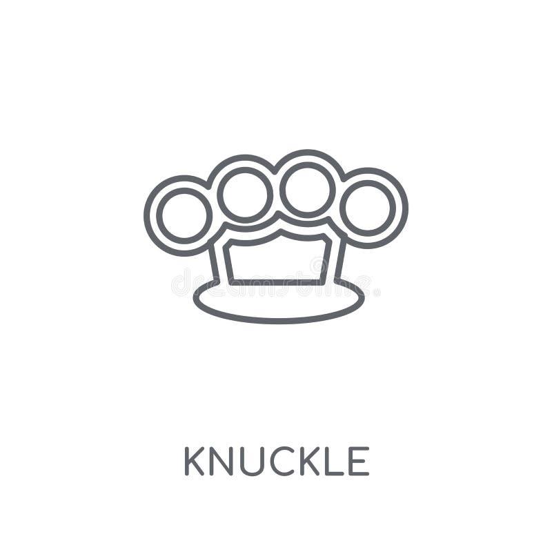 Knykieć liniowa ikona Nowożytny konturu knykcia logo pojęcie na whit ilustracji