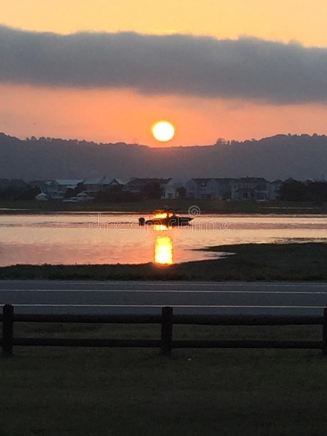 Knysna Lagoon Sunset stock image