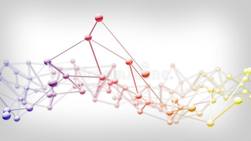 Knyta kontakt anslutning för teknologiabstrakt begreppbakgrund royaltyfri illustrationer