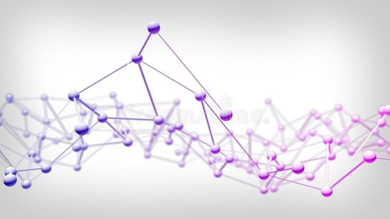 Knyta kontakt anslutning för teknologiabstrakt begreppbakgrund stock illustrationer