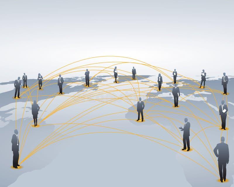 knyta kontakt bred värld vektor illustrationer