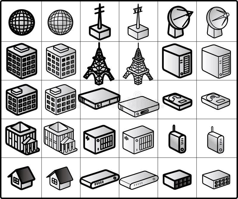 knyta kontakt för 01 symboler royaltyfri illustrationer