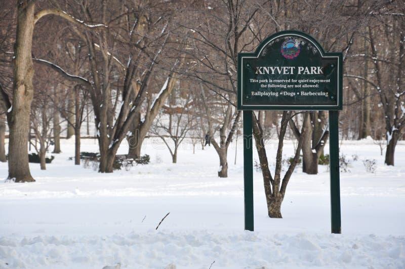 KNYVET park zdjęcie stock