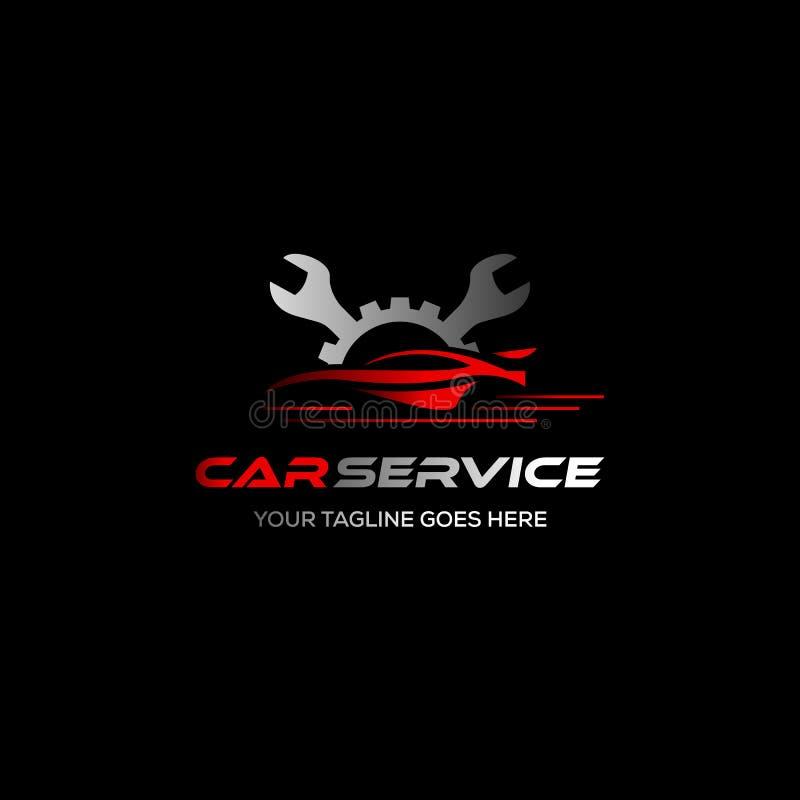 Koło remontowa usługa Opony składowej firmy znak opona logo Koło ikona Samochodowa remontowa usługa, samochód, Pali męczy logo Wy royalty ilustracja