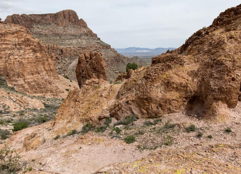 Kołysa z widokiem, góry Nutt pustkowie zdjęcie royalty free