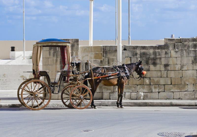 Końska taksówka, Valletta Malta obraz stock