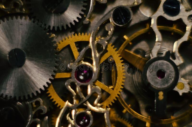 Kościec roczników handmade antykwarscy machinalni kieszeniowi zegarki, clockwork stary machinalny zegarek, wysoka rozdzielczość,  obrazy royalty free