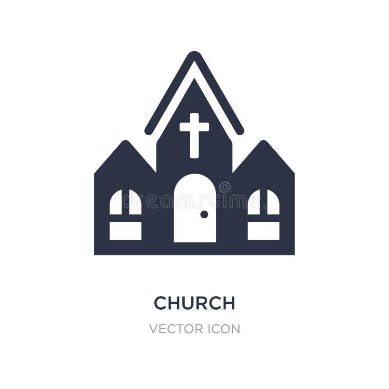 Kościelna ikona na białym tle Prosta element ilustracja od miasto elementów pojęcia ilustracja wektor