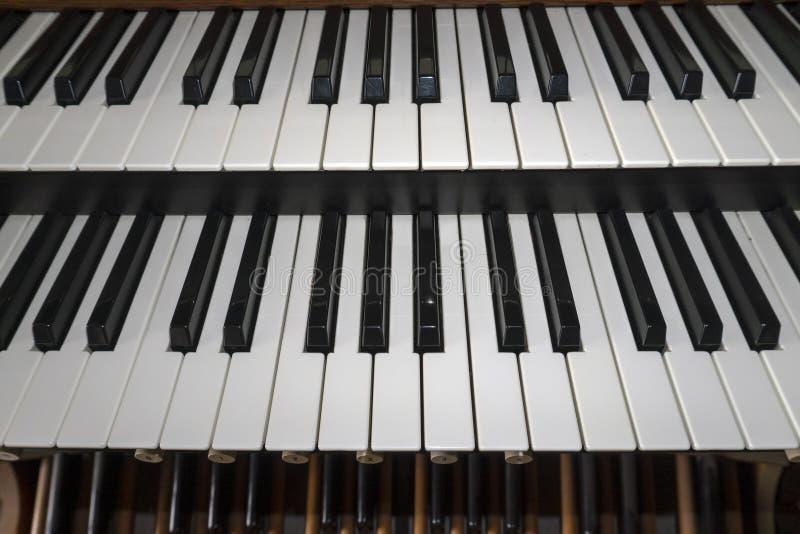 Kościelnej organ kopii klawiaturowy szczegół obrazy royalty free