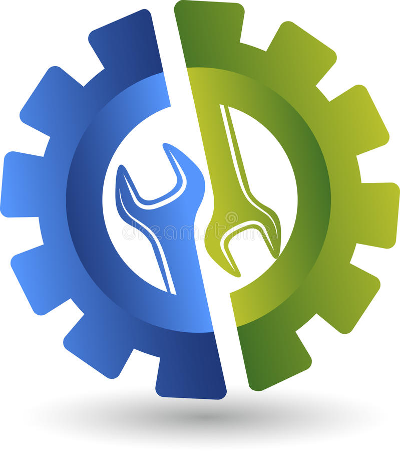 Koła spanner logo ilustracja wektor