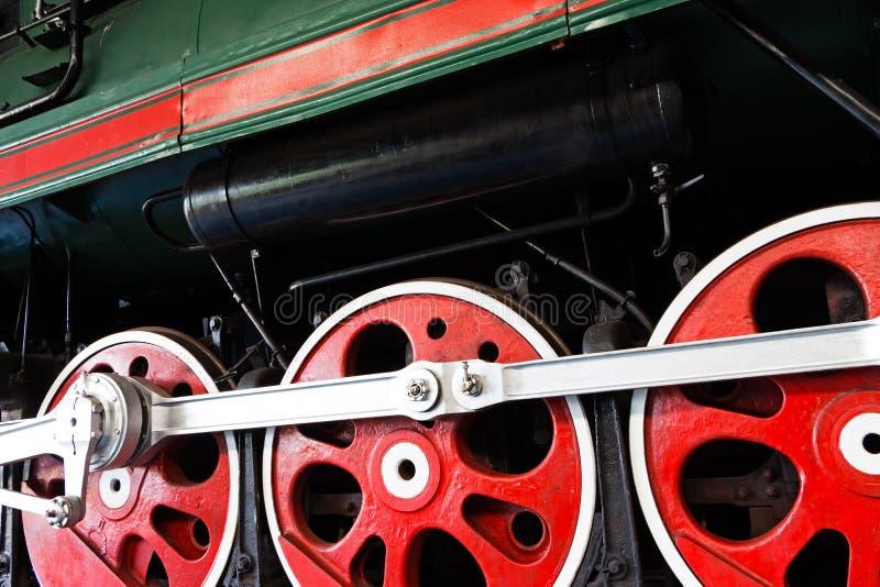 Koła stara lokomotywa obrazy royalty free