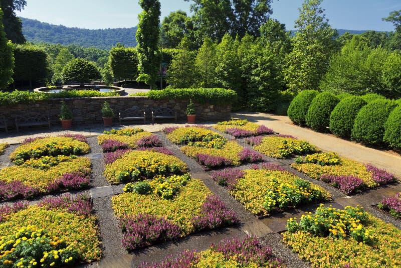 Kołdrowy ogród przy Pólnocna Karolina arboretum zdjęcia royalty free