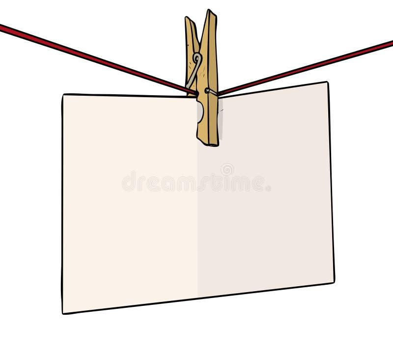 Kołkowata notatka royalty ilustracja