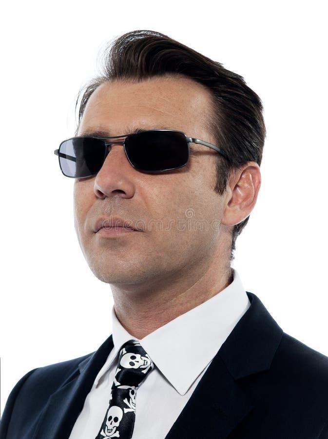 kołnierza przestępstwa kryminalny mężczyzna portreta biel zdjęcie royalty free