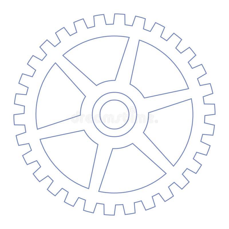koło biegów royalty ilustracja