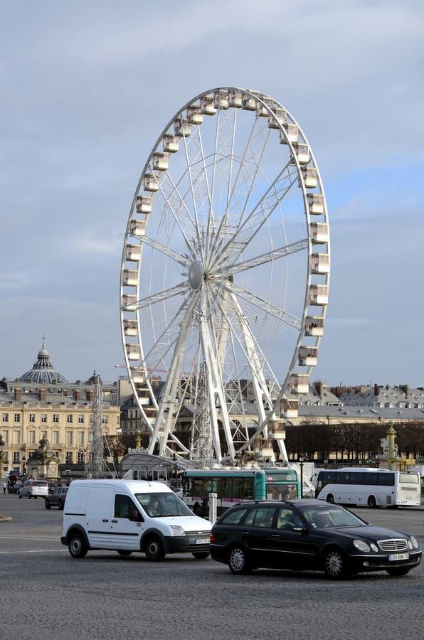koło ferris Paryża obraz royalty free