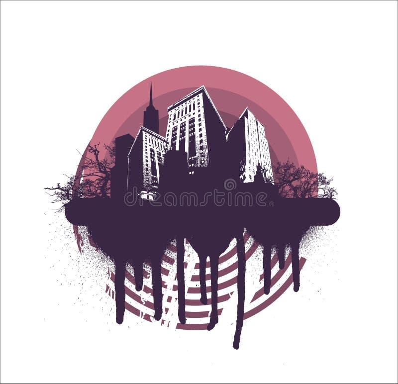 koło miasta crunch ilustracja wektor