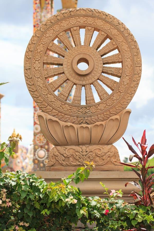 Koło prawo lub Dhamma-Jakra obrazy royalty free