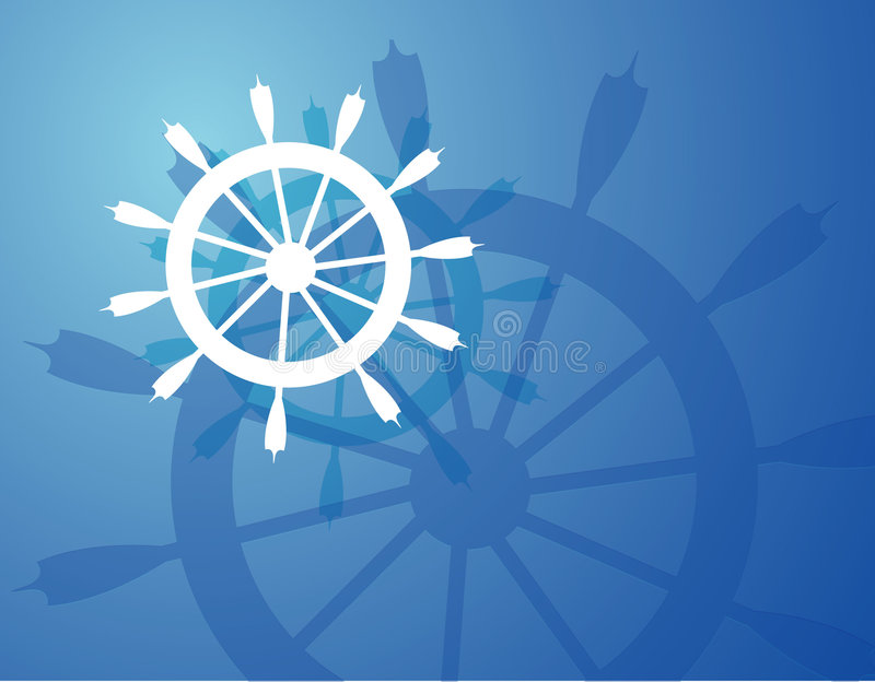 koło statku royalty ilustracja