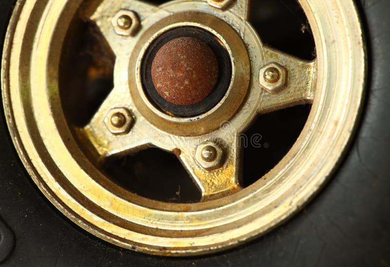 Koło zabawkarska samochodowa scena zdjęcie stock