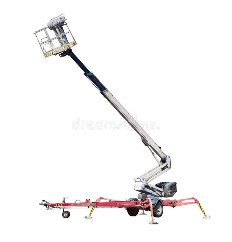 Kołowy przegubny huku dźwignięcie z telescoping huku i kosza zdjęcia stock