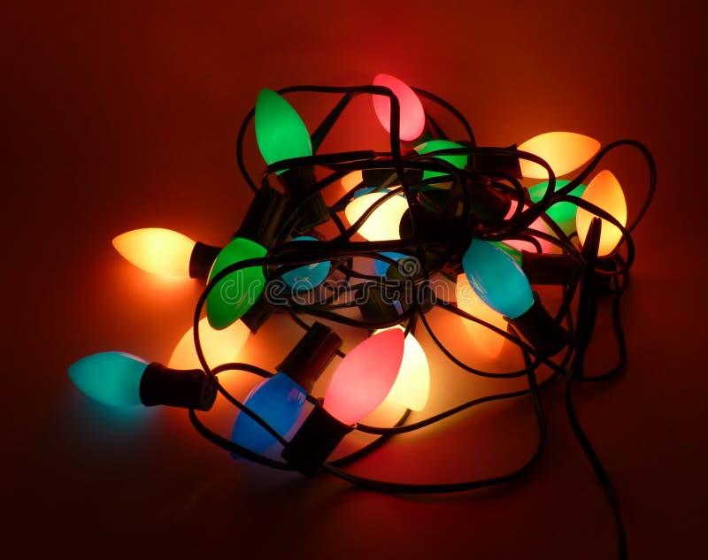 Kołtuniaści Bożonarodzeniowe światła zdjęcie stock