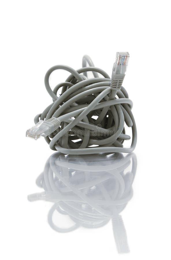 Kołtuniasty sieć kabel zdjęcia stock