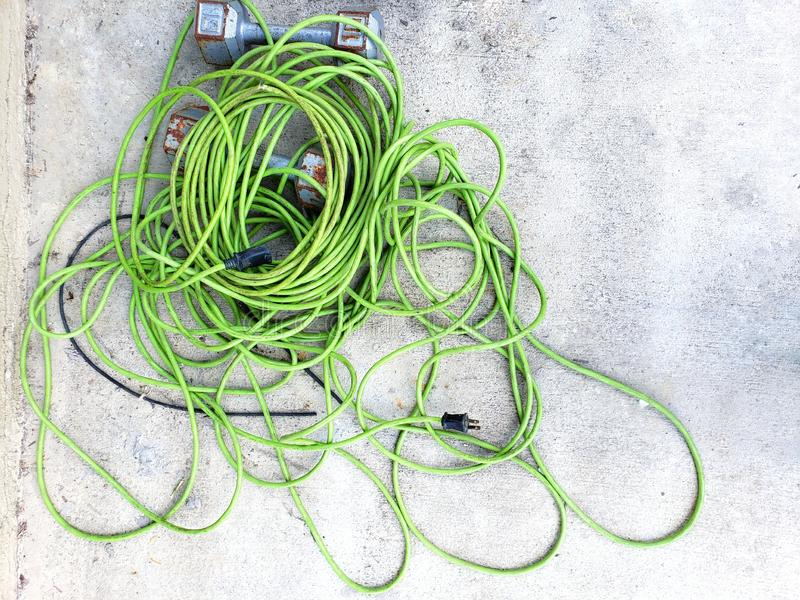 Kołtuniasty sznur weedwhacker fotografia royalty free