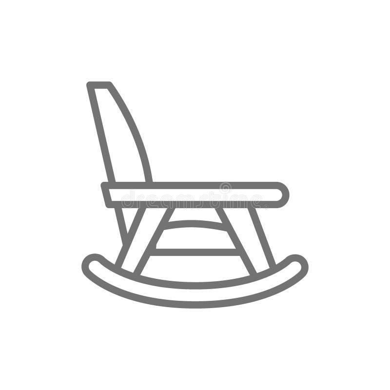 Kołysać krzesła, karmiącego domu meble linii ikona royalty ilustracja
