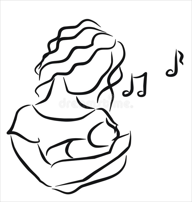 kołysanka royalty ilustracja
