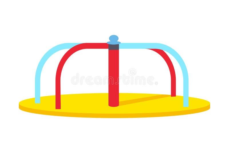 Kołyszący Round Carousel dla dzieci s boiska ilustracja wektor